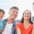 A laughing group pose for a funny photo — Stock Photo #13958966