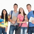 Laughing group of students as they look at camera — Stock Photo #13959673