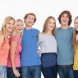 A group of friends holding each other and smiling — Stock Photo #13962631