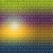 Multicolored binary code written - Stockfoto
