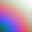 Multicolored dots changing form — Stock Photo