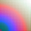 Stock Photo: Multicolored dots changing form