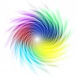 Multicolored curves forming a spiral — Stock Photo