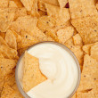 Stock Photo: Chips surrounding bowl of dip