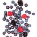 Raspberries and blueberries and blackberries — Stock Photo #13968313