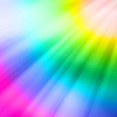 Reflections appearing on the colors of the rainbow — Stock Photo
