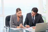 Colleagues working together — Stock Photo
