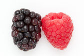 Blackberry and Raspberry — Foto de Stock