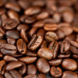Beans of coffee laid out together — Stock Photo