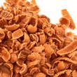 Chocolate shavings — Stock Photo
