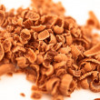 Many chocolate shavings — Stock Photo