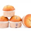 Muffins piled up together — Stock Photo