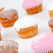 Stock Photo: Muffins with icing sugar