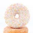 Stock Photo: Doughnut with multi coloured icing sugar
