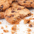 Stock Photo: Close up of many cookies piled up together