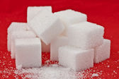Stack of sugar — Stock Photo