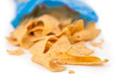 Open bag of crisps — Stock Photo