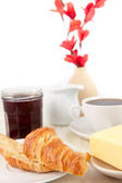 Table presentation for a breakfast — Stock Photo