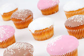 Muffins with icing sugar — Stock Photo