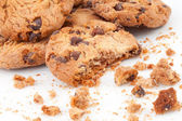 Close up of many cookies piled up together — Stock Photo