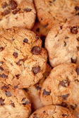 Close up of blurred cookies laid out together — Stock Photo