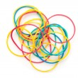 Large group of muti coloured elastics - Stock Photo