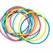 Stock Photo: Group of multi coloured elastics