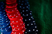 Heap of poker chips — Stock Photo