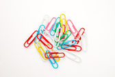 Large group of muti coloured paperclips — Stock Photo