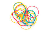 Large group of muti coloured elastics — Stock Photo