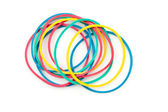 Group of multi coloured elastics — Stock Photo