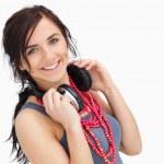 estudiante moderno con auriculares — Foto de Stock