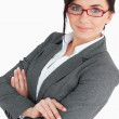 Attractive young business woman wearing glasses — Stock Photo #14071800