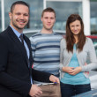 Clients having a meeting with a salesman — Stockfoto