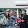 Customers buying car — Stock Photo #14078021