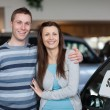 Couple purchasing a new car — Stock Photo