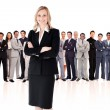 Businesswoman standing up — Stockfoto