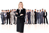 Businesswoman standing up — Fotografia Stock