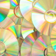 Stock Photo: Compact discs piled up
