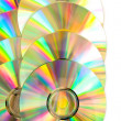 Compact disc arranged - Stock Photo