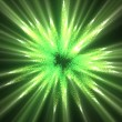 Stock Photo: Green lines of fluorescent ligths