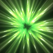 Royalty-Free Stock Photo: Green lines of fluorescent ligths