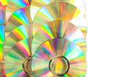 Compact disc arranged — Stock Photo