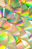 Dvd piled up — Stock Photo