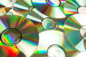 Music cd piled up — Stock Photo