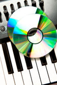 Close up of a compact disc on a synth — Stock Photo