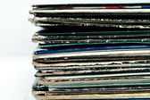 Old coloured vinyls — Stock Photo