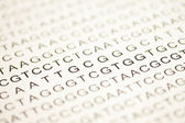 List of dna analysis in capital letters — Stock Photo