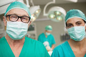 Surgeons standing up — Stock Photo