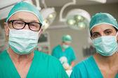 Surgeons standing up — Stock Photo